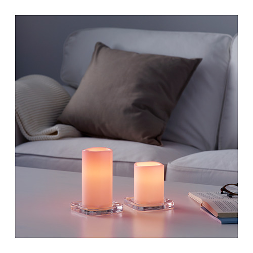 GODAFTON LED燭燈,室內/戶外用,2件套裝