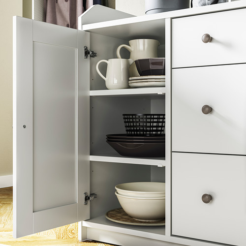HAUGA - 餐具櫃, 白色   IKEA 香港及澳門 - PE794590_S4