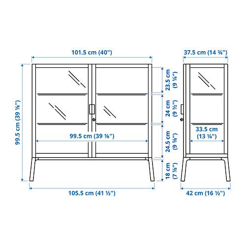 MILSBO - 玻璃門貯物櫃, 炭黑色 | IKEA 香港及澳門 - PE794635_S4