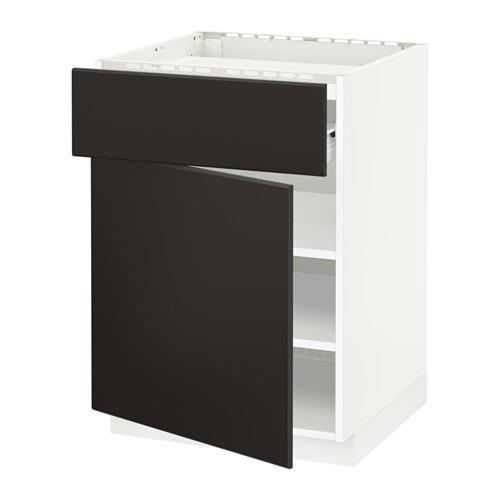 METOD/FÖRVARA base cab f hob/drawer/shelves/door