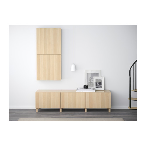 BESTÅ - wall cabinet with 2 doors, Lappviken white stained oak effect | IKEA Hong Kong and Macau - PE592311_S4