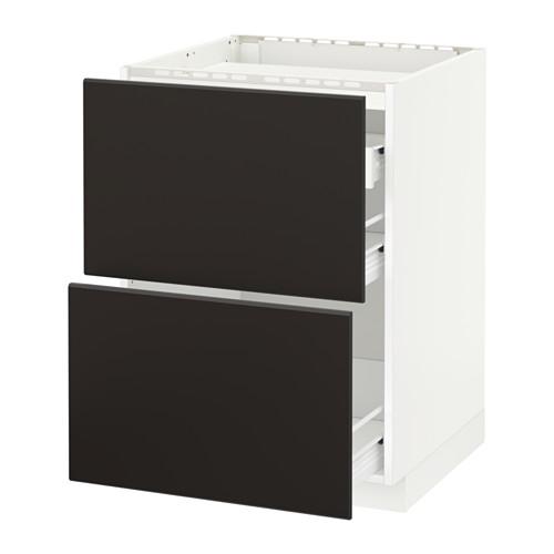 METOD/FÖRVARA base cab f hob/2 fronts/3 drawers