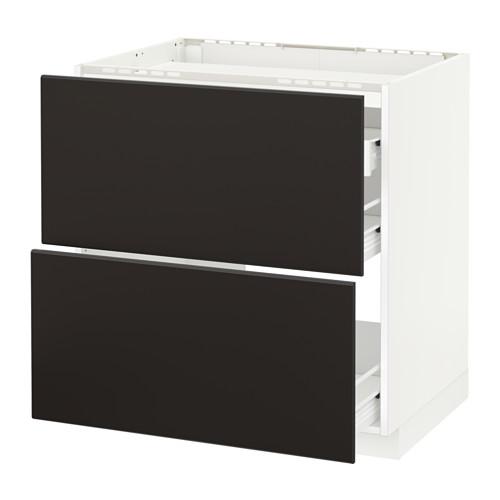 METOD/FÖRVARA - base cab f hob/2 fronts/3 drawers, white/Kungsbacka anthracite | IKEA Hong Kong and Macau - PE652639_S4