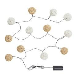 SOLVINDEN - 12頭LED裝飾燈串, 電池操作 白色/米黃色 | IKEA 香港及澳門 - PE794694_S3