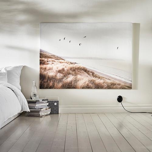 BJÖRKSTA - 畫連框, 海邊小鳥/鋁色   IKEA 香港及澳門 - PE840517_S4