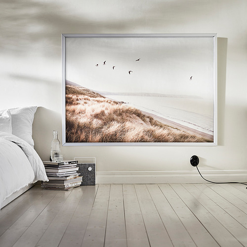 BJÖRKSTA - 畫連框, 海邊小鳥/鋁色   IKEA 香港及澳門 - PE840543_S4
