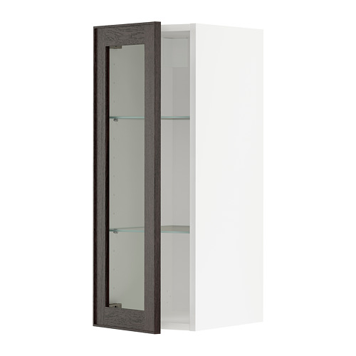 METOD - 吊櫃連層板/玻璃門, 白色/Ekestad 褐色 | IKEA 香港及澳門 - PE741983_S4