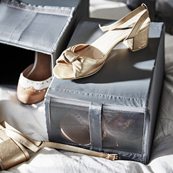 SKUBB - shoe box, 22x34x16 cm, dark grey | IKEA Hong Kong and Macau - PE794808_S3