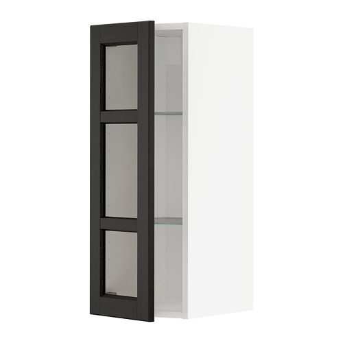 METOD - wall cabinet w shelves/glass door, white/Lerhyttan black stained | IKEA Hong Kong and Macau - PE741990_S4