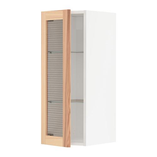 METOD - 吊櫃連層板/玻璃門, white/Torhamn ash | IKEA 香港及澳門 - PE741993_S4