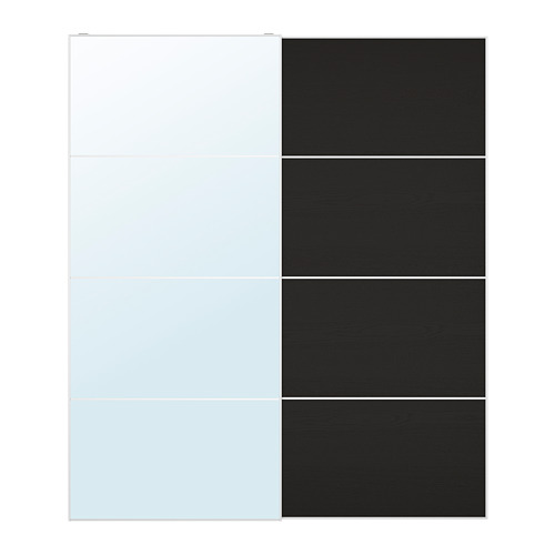 MEHAMN/AULI pair of sliding doors, 200x236 cm
