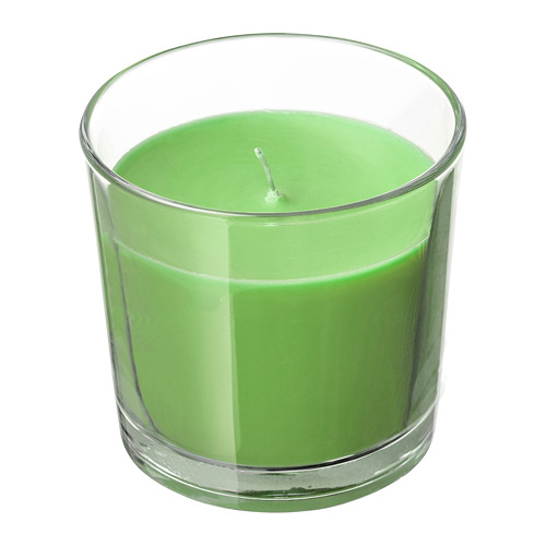 SINNLIG - 杯裝香味蠟燭, 蘋果及梨/綠色 | IKEA 香港及澳門 - PE699771_S4