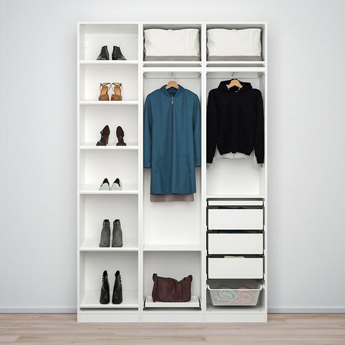 PAX/BERGSBO/VIKEDAL - 衣櫃組合, 白色/鏡面玻璃 | IKEA 香港及澳門 - PE778659_S4