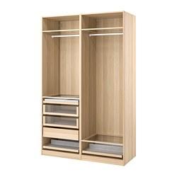 PAX - 衣櫃組合, 染白橡木紋 | IKEA 香港及澳門 - PE778695_S3
