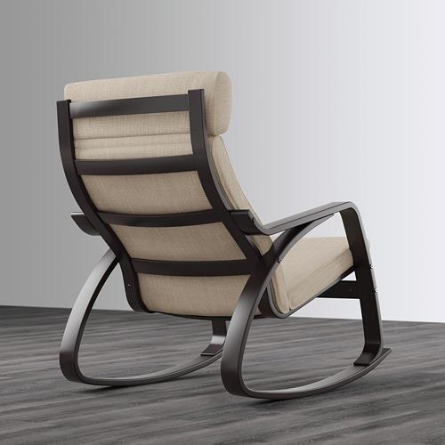 POÄNG - 搖椅, 棕黑色/Hillared 米黃色 | IKEA 香港及澳門 - PE629326_S4