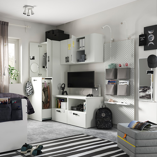 PLATSA/SMÅSTAD - storage combination, white cork/with pull-out | IKEA Hong Kong and Macau - PE794919_S4