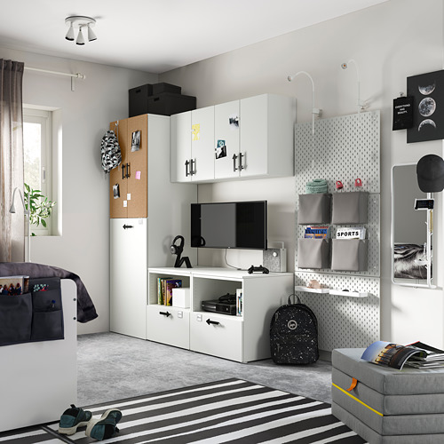 PLATSA/SMÅSTAD - storage combination, white cork/with pull-out | IKEA Hong Kong and Macau - PE794920_S4