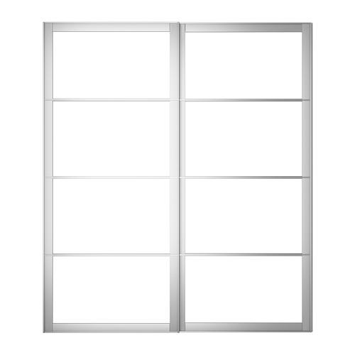 PAX - pair of sliding door frames w rail, aluminium   IKEA Hong Kong and Macau - PE300509_S4