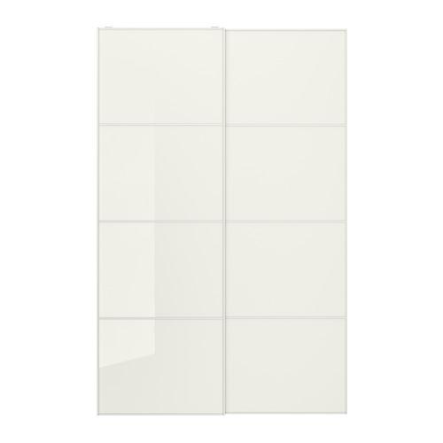 FÄRVIK - 一對趟門, 白色玻璃   IKEA 香港及澳門 - PE699863_S4