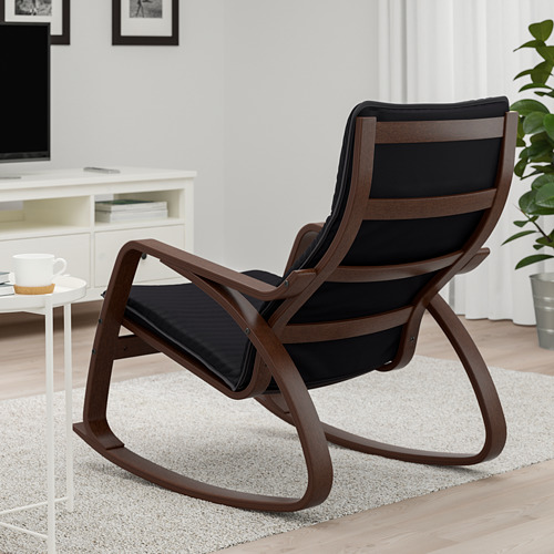 POÄNG - rocking-chair, brown/Knisa black | IKEA Hong Kong and Macau - PE667311_S4
