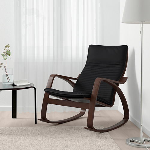 POÄNG - rocking-chair, brown/Knisa black | IKEA Hong Kong and Macau - PE667312_S4