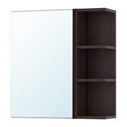 LILLÅNGEN - mirror cabinet 1 door/1 end unit, black-brown | IKEA Hong Kong and Macau - PE699913_S3