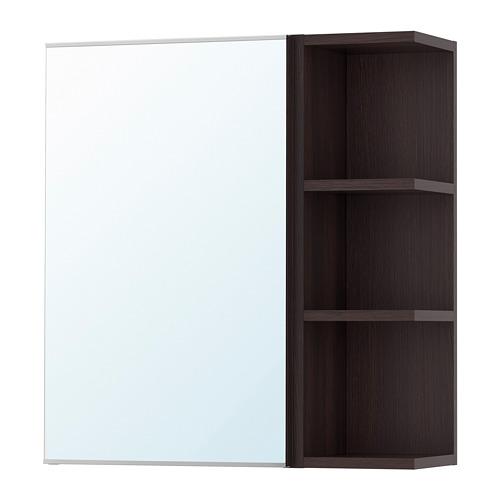 LILLÅNGEN - 單門鏡櫃連1邊櫃, 棕黑色 | IKEA 香港及澳門 - PE699913_S4