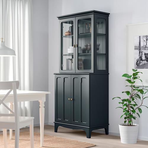 LOMMARP - 玻璃門貯物櫃, 深藍綠色 | IKEA 香港及澳門 - PE742075_S4