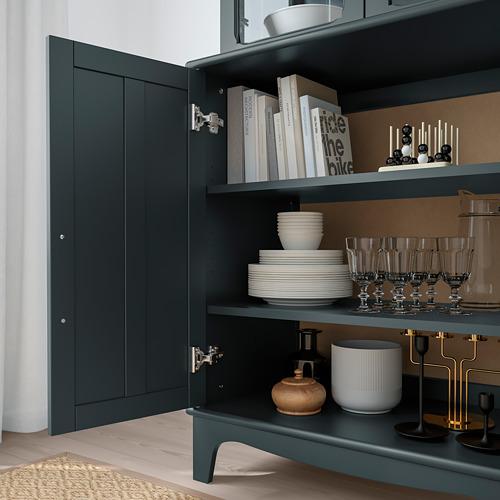 LOMMARP - 玻璃門貯物櫃, 深藍綠色 | IKEA 香港及澳門 - PE742068_S4