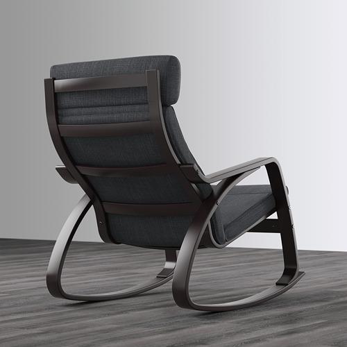 POÄNG - rocking-chair, black-brown/Hillared anthracite   IKEA Hong Kong and Macau - PE629329_S4