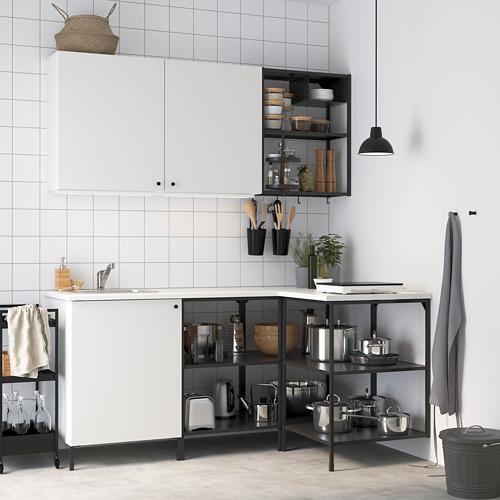 ENHET - 角位廚房, 炭黑色/白色 | IKEA 香港及澳門 - PE795063_S4