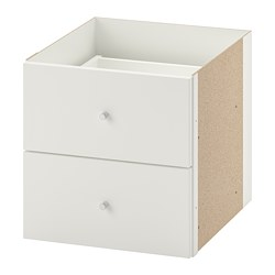 KALLAX - insert with 2 drawers, white | IKEA Hong Kong and Macau - PE699976_S3