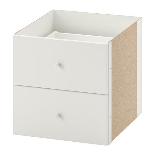 KALLAX - insert with 2 drawers, white | IKEA Hong Kong and Macau - PE699976_S4