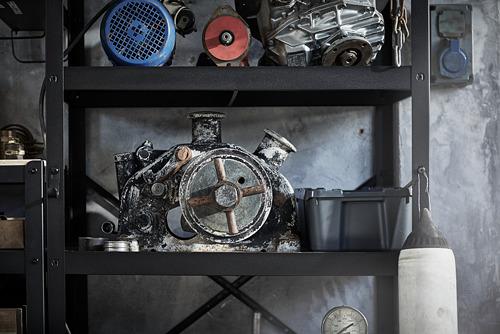 BROR - 層架組合, 85x55x190 cm, 黑色 | IKEA 香港及澳門 - PE795097_S4
