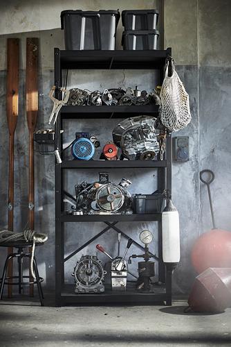 BROR - shelving unit, 85x40x190 cm, black | IKEA Hong Kong and Macau - PE795099_S4