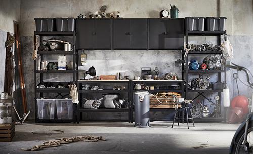 BROR - 層架組合, 85x55x190 cm, 黑色 | IKEA 香港及澳門 - PE795102_S4