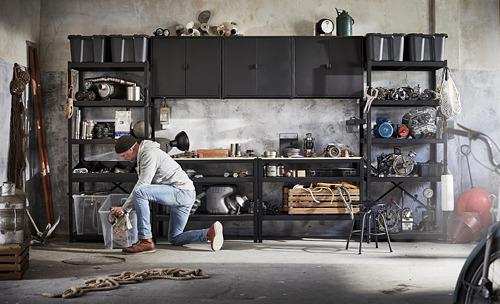 BROR - 工作檯, 55x110x88 cm, 黑色/松木夾板   IKEA 香港及澳門 - PE795103_S4
