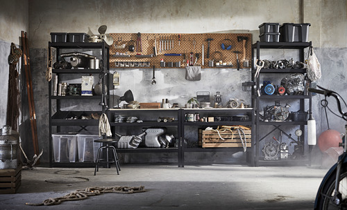 BROR - 工作檯, 55x110x88 cm, 黑色/松木夾板   IKEA 香港及澳門 - PE795104_S4