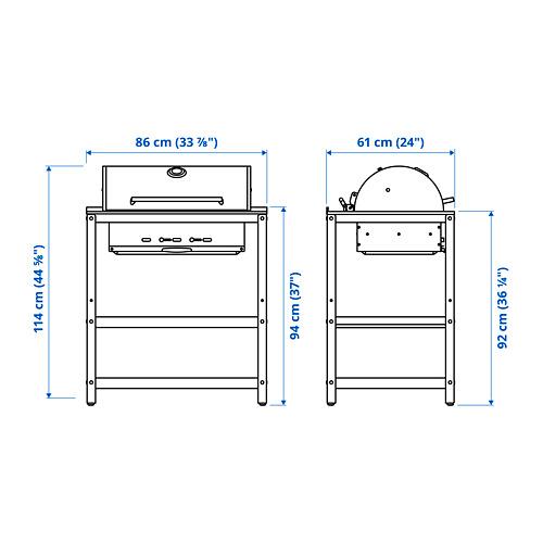 GRILLSKÄR - 燒烤炭爐連貯物櫃, 黑色/不銹鋼 戶外 | IKEA 香港及澳門 - PE795176_S4