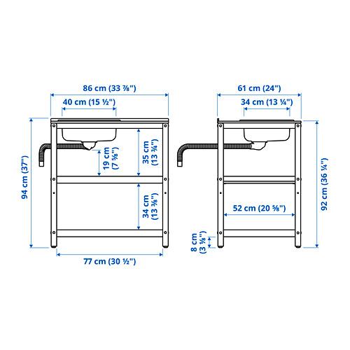 GRILLSKÄR - 星盆, 黑色/不銹鋼 戶外   IKEA 香港及澳門 - PE795174_S4
