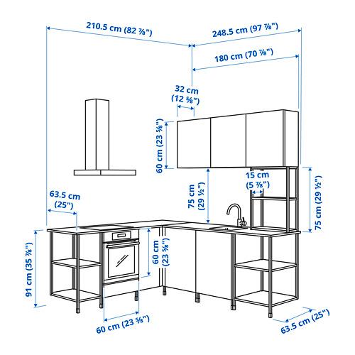 ENHET - 角位廚房, 白色/仿混凝土 白色 | IKEA 香港及澳門 - PE795136_S4