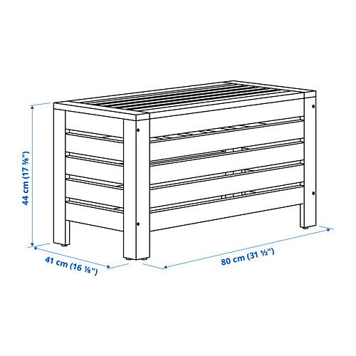 ÄPPLARÖ - storage bench, outdoor, brown stained | IKEA Hong Kong and Macau - PE795188_S4
