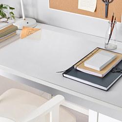 SKVALLRA - 書檯墊, 80x60 cm, 白色/透明 | IKEA 香港及澳門 - PE742137_S3