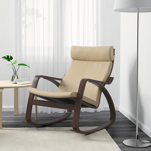 POÄNG - rocking-chair, brown/Glose eggshell | IKEA Hong Kong and Macau - PE600970_S4