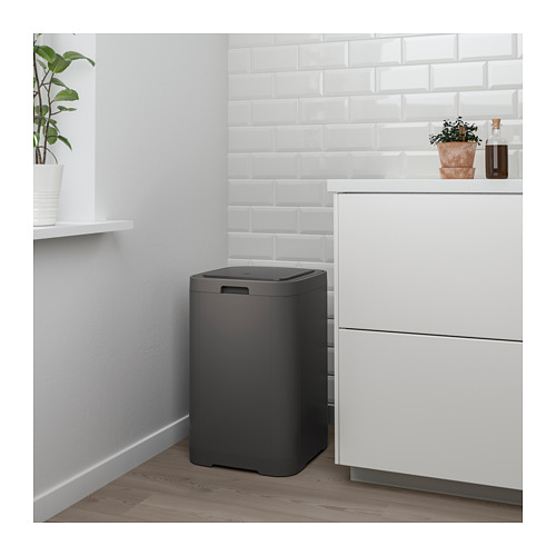 GIGANTISK - touch top bin, dark grey | IKEA Hong Kong and Macau - PE653322_S4