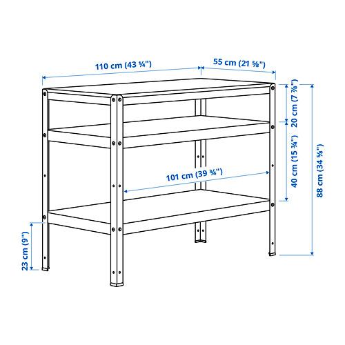 BROR - 工作檯, 55x110x88 cm, 黑色/松木夾板   IKEA 香港及澳門 - PE795231_S4