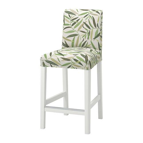 BERGMUND - bar stool with backrest, H97cm, white/Fågelfors multicolour | IKEA Hong Kong and Macau - PE795251_S4