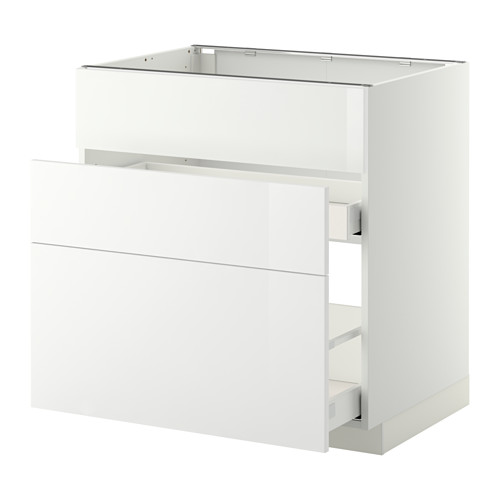 METOD base cab f sink+3 fronts/2 drawers
