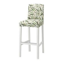 BERGMUND - 高腳凳連靠背, 高110cm, 白色/Fågelfors 彩色 | IKEA 香港及澳門 - PE795278_S3
