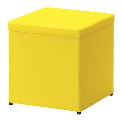 BOSNÄS - footstool with storage, Ransta yellow | IKEA Hong Kong and Macau - PE381200_S3